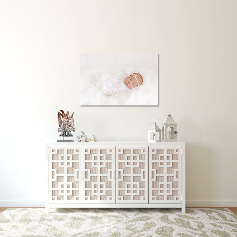 Luxury Annapolis Newborn Photographer offer fine art prints beautifully framed and ready to be displayed on the wall